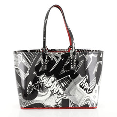 Christian Louboutin Cabata East West Tote Printed Patent Small White 44471118