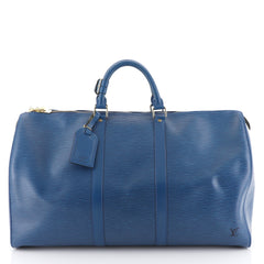 Louis Vuitton Keepall Bag Epi Leather 50 Blue 44471126