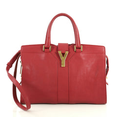 Saint Laurent Chyc Cabas Tote Leather Small Red 44471134
