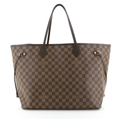 Louis Vuitton Neverfull Tote Damier GM Brown 44471137