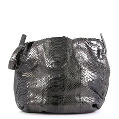 Bottega Veneta Drawstring Hobo Python Large Black 44471140