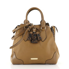 Burberry Ablett Tote Leather Medium Brown 44471148