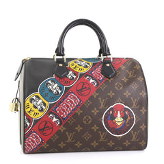 Louis Vuitton Speedy Handbag Limited Edition Kabuki Monogram Canvas 30