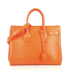Saint Laurent Sac de Jour Bag Leather Small Orange 444713