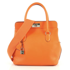 Hermes Toolbox Handbag Swift 26 Orange 444715