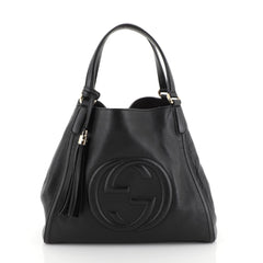 Gucci Soho Shoulder Bag Leather Medium Black 4447168