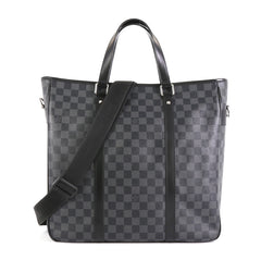 Louis Vuitton Tadao Handbag Damier Graphite MM Black 4447179