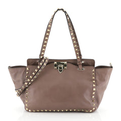 Valentino Rockstud Tote Soft Leather Small Neutral 4447185