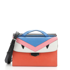 Fendi Demi Jour Monster Satchel Leather