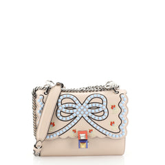 Fendi Kan I Bag Embroidered Studded Leather Small