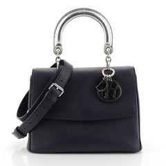 Christian Dior Be Dior Bag Smooth Leather Small Blue 444804