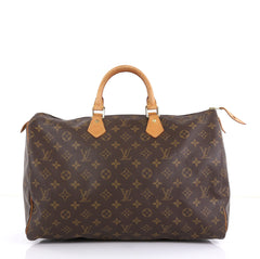 Louis Vuitton Speedy Handbag Monogram Canvas 40 Brown 4448218