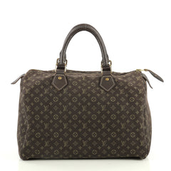 Louis Vuitton Speedy Handbag Mini Lin 30 Brown 444861