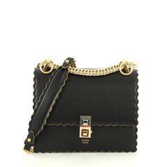 Fendi Kan I Bag Leather Small Black 4449810