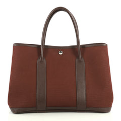 Hermes Garden Party Tote Toile and Leather 36 Red 4450125