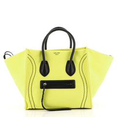Celine Phantom Bag Canvas Medium Yellow 4450162