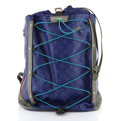 Louis Vuitton Outdoor Backpack Limited Edition Monogram Pacific Canvas  Blue 445062