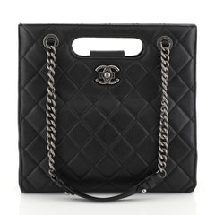 Chanel Boy Shopper Quilted Goatskin Small Black 445131