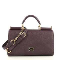Dolce & Gabbana Miss Sicily Bag Leather Medium Purple 4452811