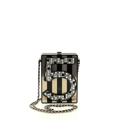 Chanel No. 5 Minaudiere Embellished Plexiglass Black 445583