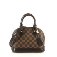 Louis Vuitton Alma Handbag Damier BB Brown 445622