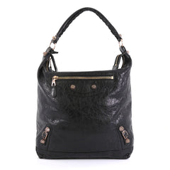 Balenciaga Day Hobo Giant Studs Leather Black 446061