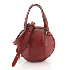 Gucci Tifosa Convertible Shoulder Bag Glazed Leather Mini Red 446132