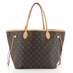 Louis Vuitton Neverfull Tote Monogram Canvas MM Brown 4466721