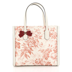 Gucci GG Ribbon Tote Coated Printed Canvas Medium Red 4466778
