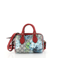 Gucci Convertible Boston Bag Blooms Print GG Coated Canvas Nano Red 4466780