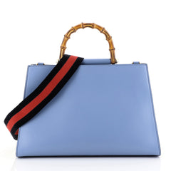 Gucci Nymphaea Top Handle Bag Leather Medium Blue 4467212