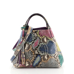 Gucci Soho Convertible Shoulder Bag Python Small Multicolor 4467215