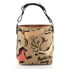 Christian Dior DiorAvenue Bucket Bag Embroidered Canvas Small Brown 4467224