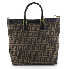 Fendi Convertible Tote Zucca Coated Canvas Brown 4469611