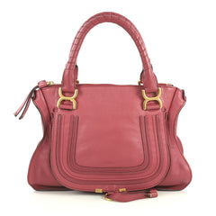Chloe Marcie Shoulder Bag Leather Medium Red 4469613