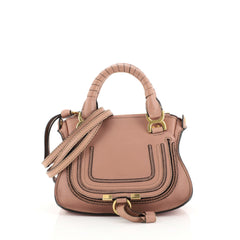 Chloe Marcie Satchel Leather Baby Pink 446967