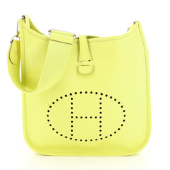 Hermes Evelyne Crossbody Gen III Epsom PM Yellow 446991