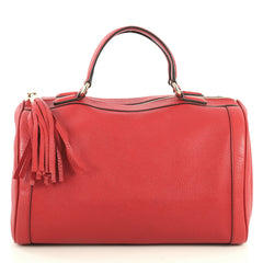 Gucci Soho Boston Bag Leather Red 447016