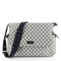 Gucci Diaper Bag GG Coated Canvas Blue 447021