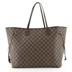 Louis Vuitton Neverfull Tote Damier GM Brown 447191