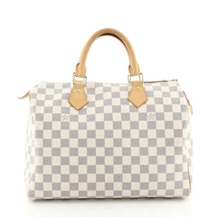 Louis Vuitton Speedy Handbag Damier 30 White 447212