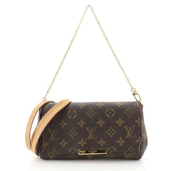 Louis Vuitton Favorite Handbag Monogram Canvas PM Brown 447214