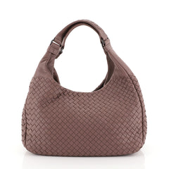 Bottega Veneta Campana Hobo Intrecciato Nappa Small Neutral 447244
