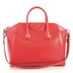 Givenchy Antigona Bag Glazed Leather Medium Red 447611