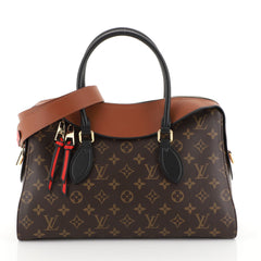 Louis Vuitton Tuileries Handbag Monogram Canvas with Leather  Brown 447862