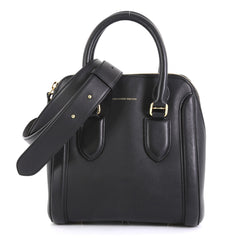 Alexander McQueen Heroine Tote Leather Mini Black 447872
