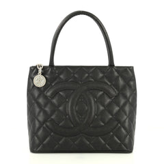 Chanel Medallion Tote Quilted Caviar Black 4480418