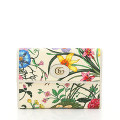 Gucci Ophidia Wallet Flora Canvas Small Neutral 4481525