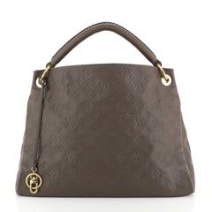 Louis Vuitton Artsy Handbag Monogram Empreinte Leather MM Brown 448154...