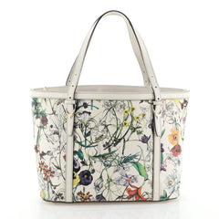 Gucci Nice Tote Floral Printed Leather Small